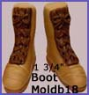 moldb18- 1 3/4-inch Boot Mold (top and bottom and laces)